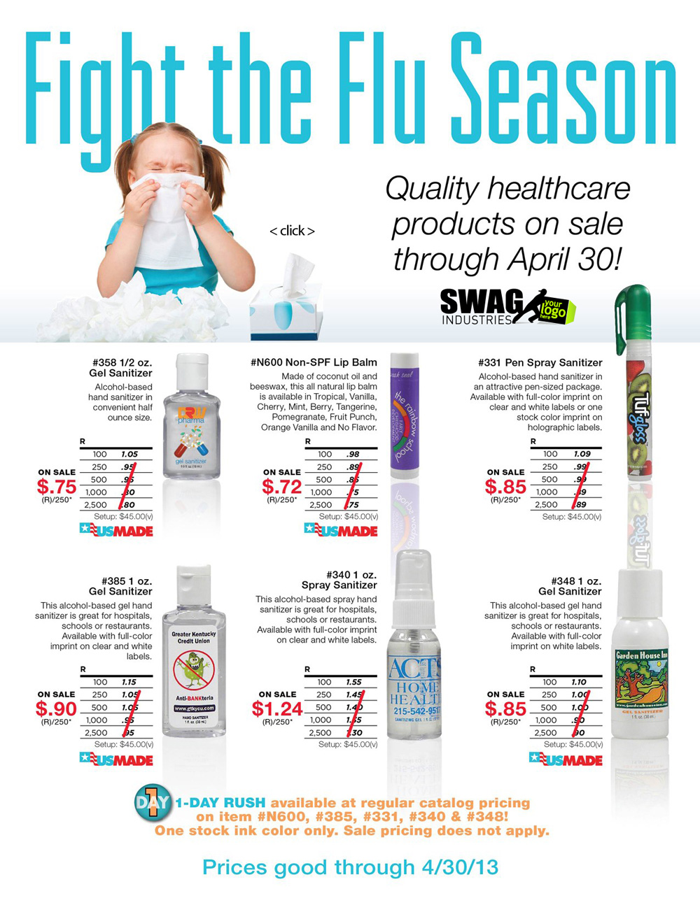 promotional items specials